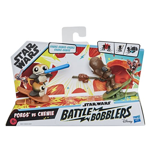 Star Wars Battle Bobblers Showdowns Porgs vs. Chewbacca Bobble Heads