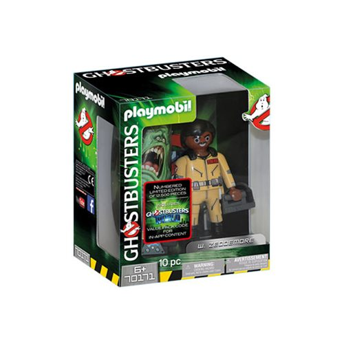 Playmobil 70171 Ghostbusters Collector's Edition 6-Inch Winston Zeddemore Action Figure