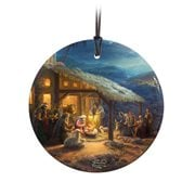 Thomas Kinkade The Nativity StarFire Prints Hanging Glass Ornament