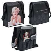 Marilyn Monroe Recycled Messenger Tote