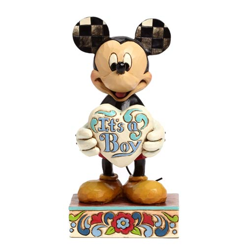 Disney Traditions Mickey Mouse It's a Boy Statue