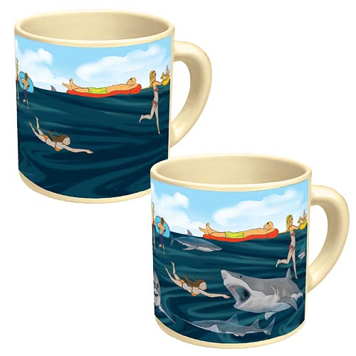Shark Attack Disappearing Mug