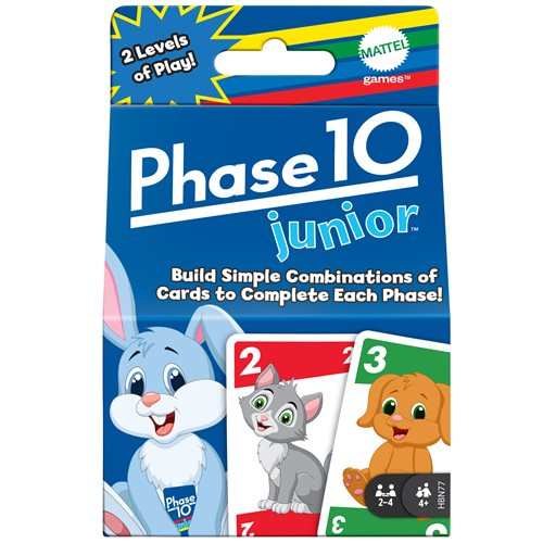 Phase 10 Jr Blue Card Game