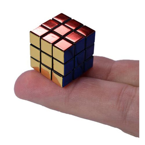 World's Smallest 40th Anniversary Metallic Rubik's Cube Game