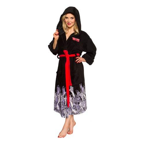 a20d49ae0d The Walking Dead Black Hooded Adjustable Bath Robe ...