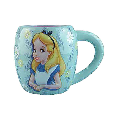 Alice in Wonderland Blue 14 oz. Blue Ceramic Mug