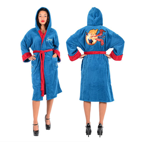 DC Comics Bombshells Supergirl Fleece Bathrobe