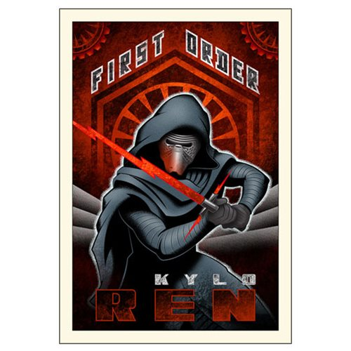 Star Wars: The Force Awakens First Order Ren Small Canvas Giclee Art Print