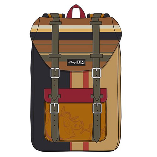 Lion King Striped Timon and Pumba Nylon Backpack