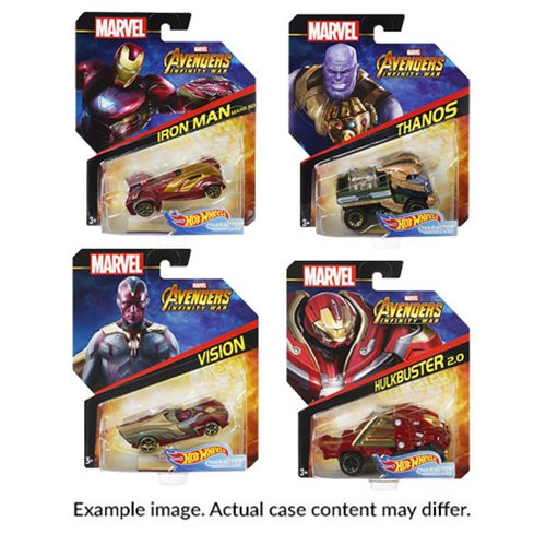 Hot Wheels Marvel Character Cars 1:64 Scale 2019 Wv. 2 Case