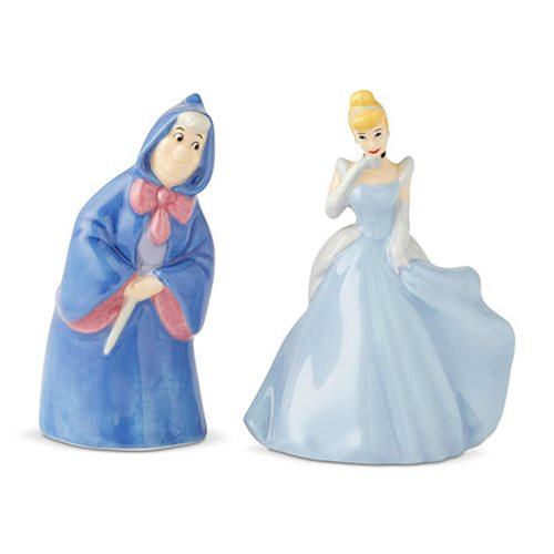 Cinderella and Fairy Godmother Salt and Pepper Shaker Set
