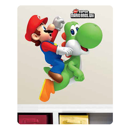 Super Mario Bros. Mario on Yoshi Peel and Stick Giant Wall Decal