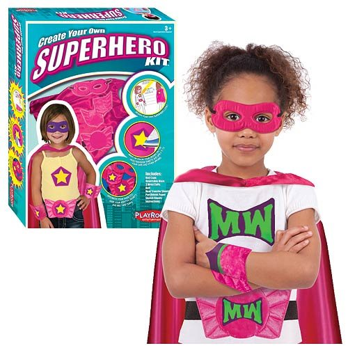 Create Your Own Superhero Kit Pink Cape Version