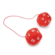 20-Sided Red Dice Danglers Plush
