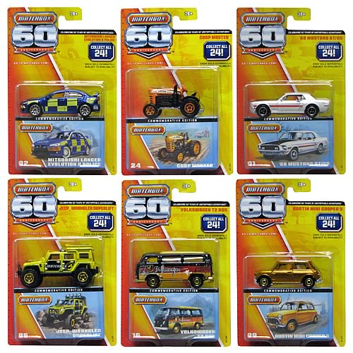 Matchbox 60th Anniversary Wave 1 Vehicle Set