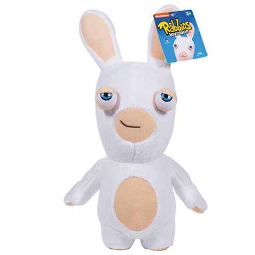 Rabbids Invasion Smirking White Rabbid Series 2 Plush