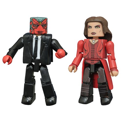 Marvel Minimates Vision and Scarlet Witch 2-Pack Set - SDCC 2016 Exclusive