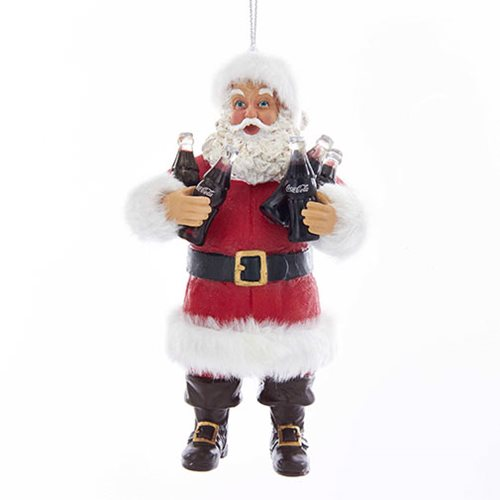 Coca-Cola Santa Holding Coke Bottles 5-Inch Ornament