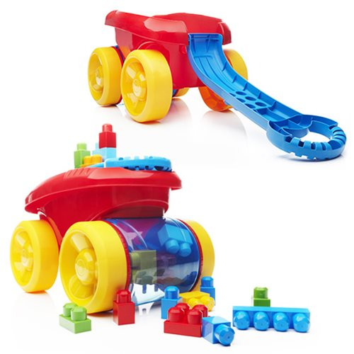 Mega Bloks First Builders Block Scooping Classic Wagon Vehicle