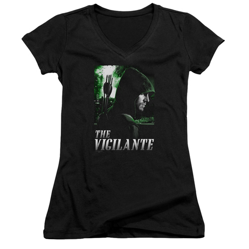 Arrow TV Series Star City Defender Juniors V-Neck T-Shirt