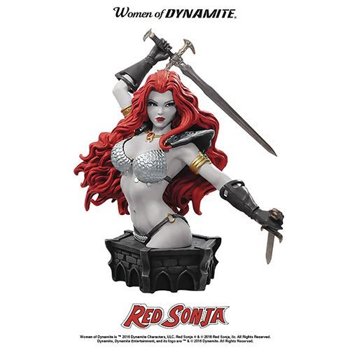 Women of Dynamite Red Sonja Arthur Adams Black and White Bust