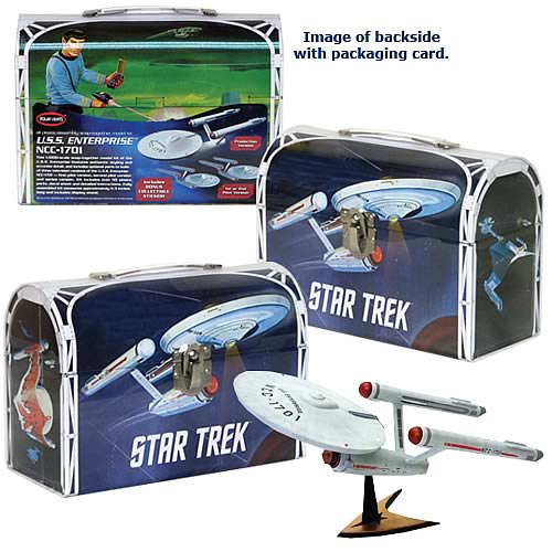 Star Trek: TOS Enterprise Model Kit and Tin Lunch Box