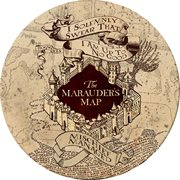 Harry Potter Marauder's Map Melamine Plate Set of 4