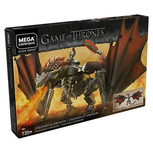 735 pieces Game Of Thrones Mega Construx Daenerys /& Drogon Black Series