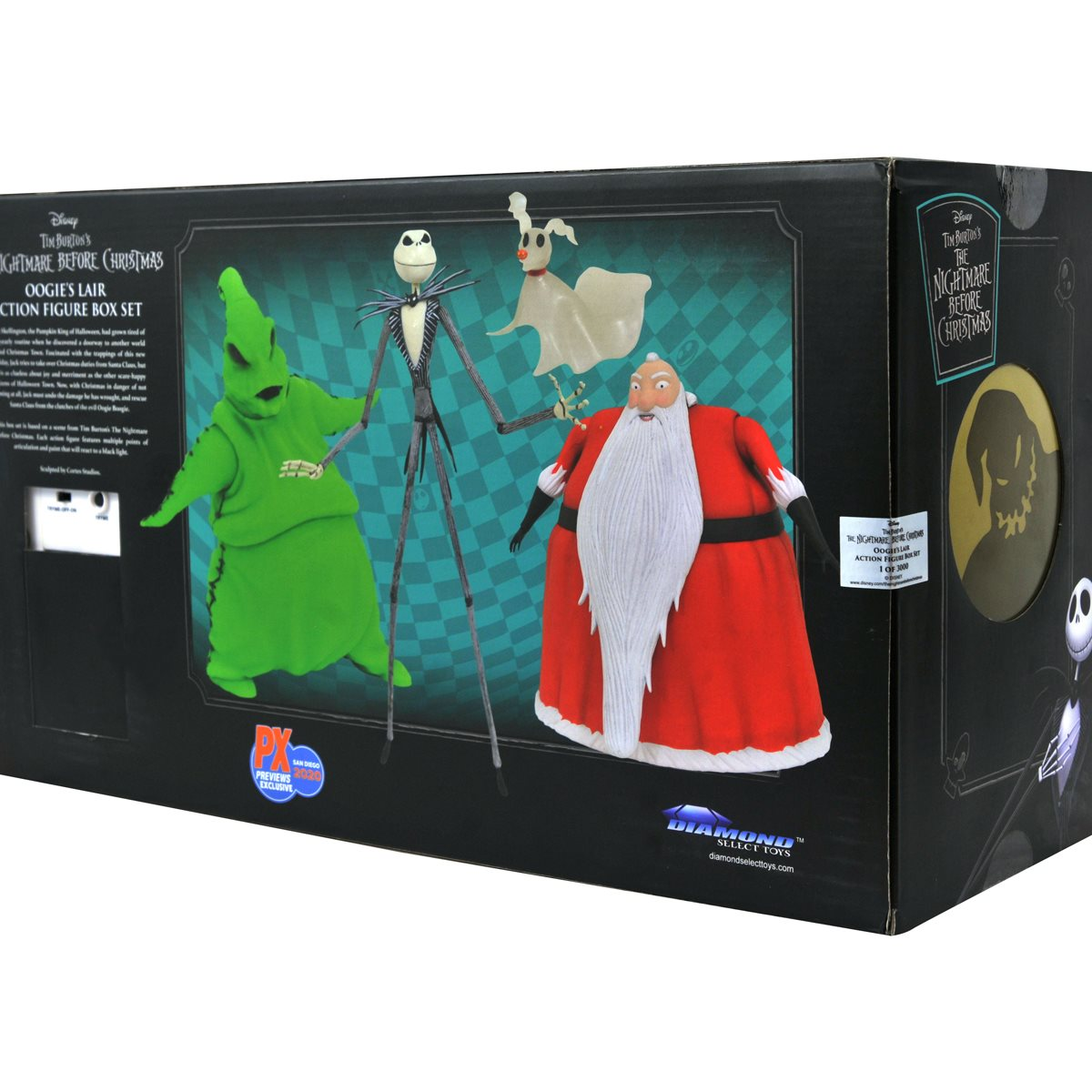 Nightmare Before Christmas Lighted Action Figure Box Set   San