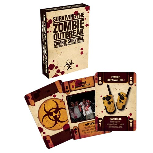 Zombie Outbreak Playing Cards