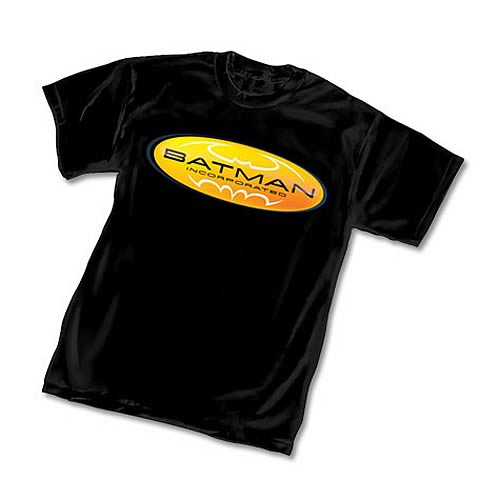 2bc443fc Batman Incorporated Company Logo Black T-Shirt - Entertainment Earth