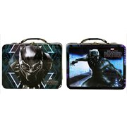 Black Panther Large Carry All Tin Tote Lunch Box Set