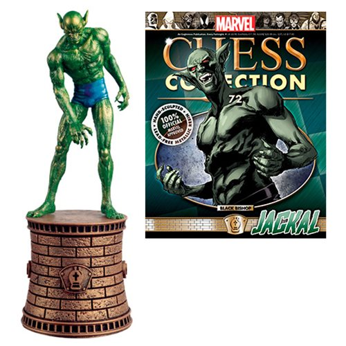 Marvel Jackal Black Bishop Chess Piece with Collector Magazine #72