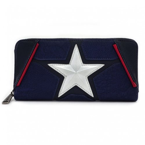 Captain America Cosplay Zip-Around Wallet