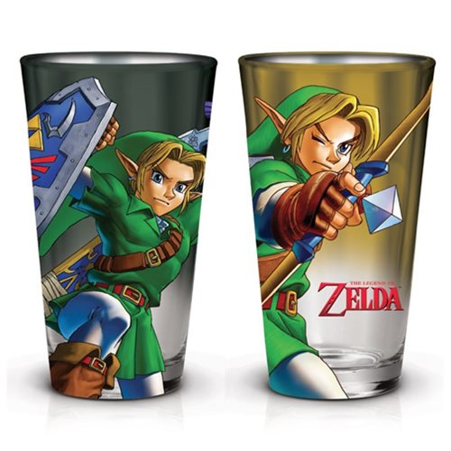 The Legend of Zelda Link 16 Oz. Pint Glass 2-Pack