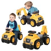 Mega Bloks CAT 3-In-1 Excavator Ride-On Toy Box
