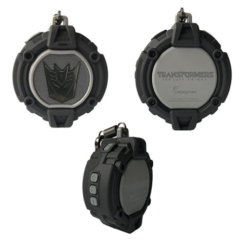 Transformers The Last Knight Black Decepticon Portable Bluetooth Speaker