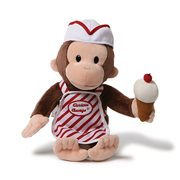 Curious George Ice Cream 13-Inch Plush