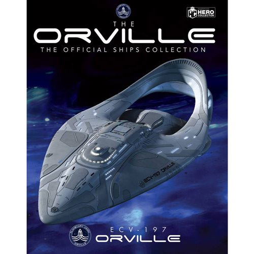The Orville Starship Collection U.S.S. Orville ECV-197 XL Version Ship with Collector Magazine