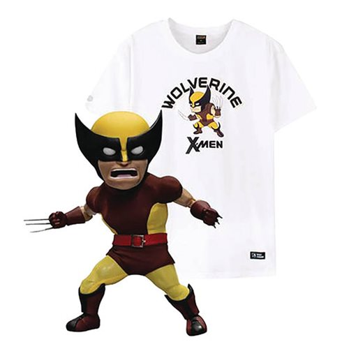 X-Men Wolverine Brown Costume Version EAA-084DX Action Figure with X-Large T-Shirt
