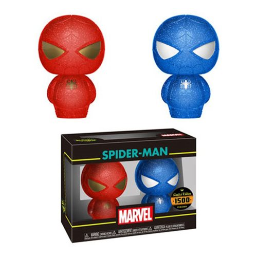 Spider-Man Red and Blue Hikari XS Figure 2-Pack