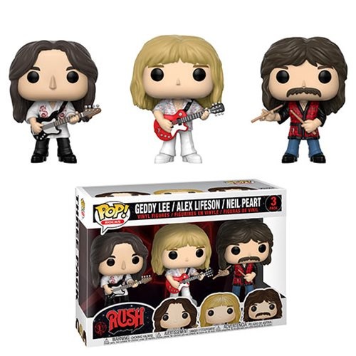 Rush Geddy, Alex, and Neil Pop! Vinyl Figure 3-Pack