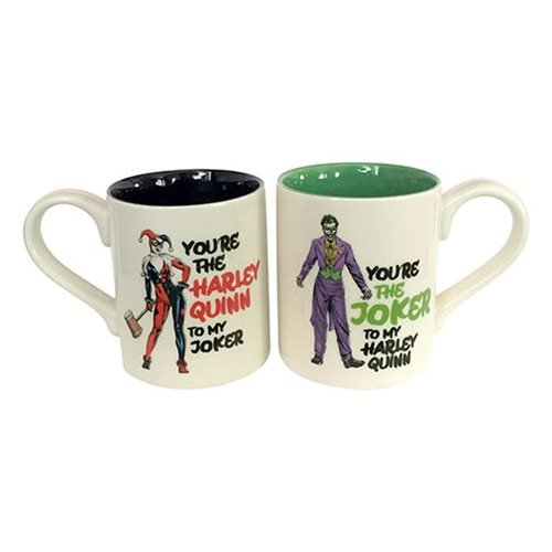 DC Comics Harley Quinn and Joker 12 oz. Mug Set