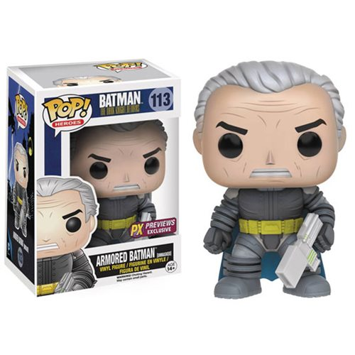Batman: The Dark Knight Returns Unmasked Armored Batman Pop! Vinyl Figure - Previews Exclusive, Not Mint
