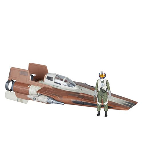 Star Wars Force Link 2.0 Resistance A-Wing Fighter Vehicle with Resistance Pilot Action Figure - Exclusive