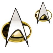 Star Trek Next Generation Communicator Badge and Pin Set