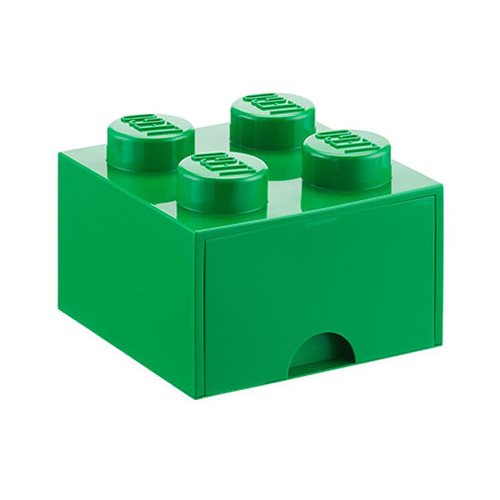 LEGO Dark Green Brick Drawer 4