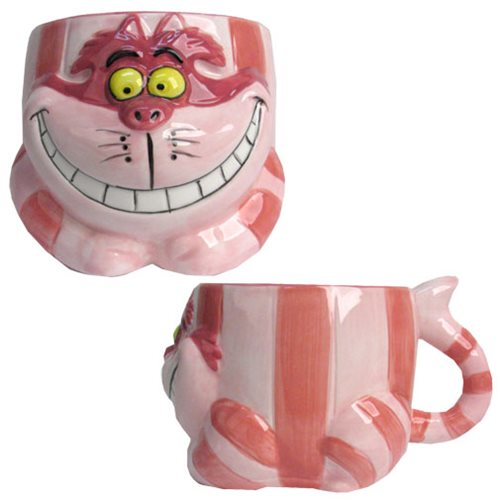 Alice in Wonderland Cheshire Cat Sculpted Mug