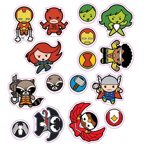 Marvel Kawaii Character Car Graphics Set 1