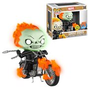 Marvel Classic Ghost Rider with Bike Glow-in-the Dark Pop! Vinyl Figure - Previews Exclusive
